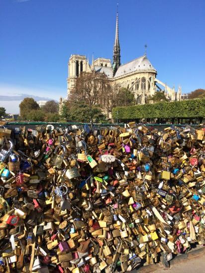 les cadenas des amoureux - Notre Dame de Paris