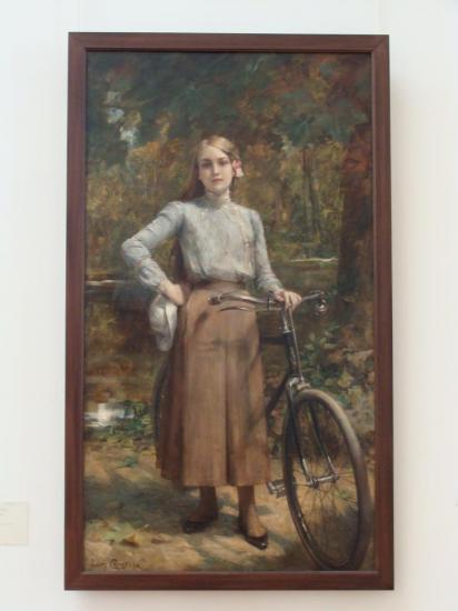 Paris - peinture cycliste