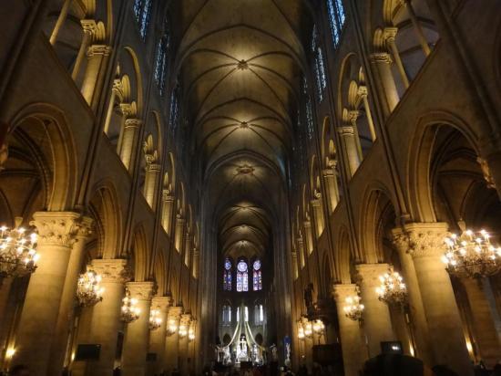 Inside Notre Dame de Paris